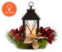 CANDLE LANTERN W/ BUFFALO CHECK