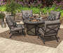 CANYON 4PK SPRING ACTION CHAIRS WITH CUSHIONS