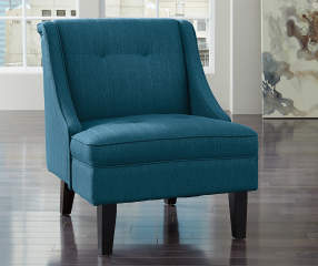 Signature Design By Ashley Clarinda Blue Accent Chair