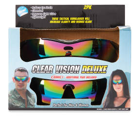 As Seen On Tv Clear Vision Deluxe Tactical Sunglasses 2