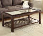 COFFEE TABLE With DIAGONAL SLAT BOTTOM Room Shot