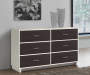 COLEBROOK 6 DRAWER IVORY BROWN DRESSER lifestyle