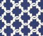 COMPTON NAVY GATE PATTERN CHAIR CUSHION