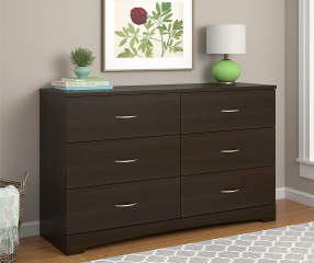 ameriwood espresso 6 drawer dresser big lots. Black Bedroom Furniture Sets. Home Design Ideas