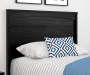CRESCENT POINT BLACK TWIN HEADBOARD lifestyle