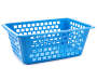 Cabana Blue Medium Storage Basket silo angled