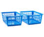 Cabana Blue Mini Baskets 2 Piece Set silo angled