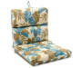 Cabo Botanical & Stripe Reversible Outdoor Chair Cushion