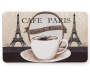 Cafe Paris Chef Mat 18 Inches by 30 Inches Front View Overhead View Silo Image