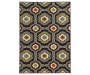 Cameron Black Area Rug 6FT7IN x 9FT3IN Silo Image