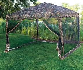 Camo Pop Up Sun Shelter With Netting 10 X 10 Big Lots