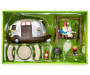 Camping Gnomes Fairy Garden Set silo front package