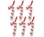 Candy Cane Ornaments 6 Pack Out of Package Overhead Shot Silo Image
