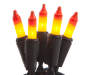 Candy Corn Mini Light Set 50 Count Out of Package Lit Up Silo Image
