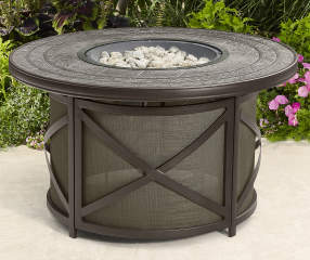 Wilson Amp Fisher Canyon 43 Quot Round Fire Pit Table With Lazy