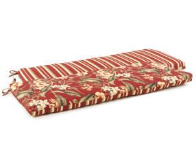 Capulet Red Floral Amp Stripe Reversible Outdoor Bench
