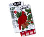 Cardinal Christmas Kitchen Towels 2 Pack Stacked and Fanned Silo Image