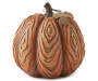 Carved Pumpkin Decor with Metal Leaf Silo Image