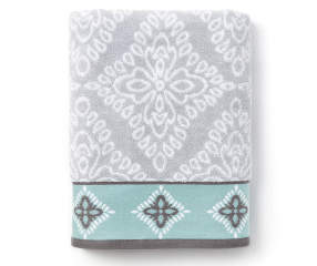 Project Runway Celeste Gray Amp Aqua Bath Towel Big Lots