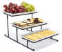 Ceramic 3 Tier Serving Set silo with food prop