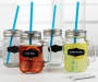 Chalk Label Mason Jars with Straws 4 Pack lifestyle