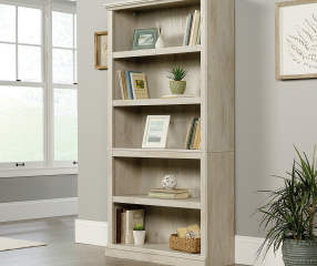 Sauder Chalked Chestnut Tan 5 Shelf Bookcase Big Lots