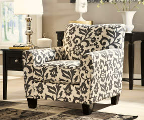 Simmons Flannel Levon Charcoal Accent Chair Big Lots