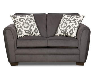 Simmons Flannel Charcoal Sofa Big Lots