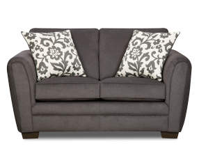 Simmons Flannel Charcoal Loveseat Big Lots