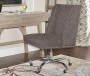 Charcoal Gray Square Back Office Chair with Nailhead Trim lifestyle