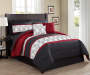 Chase Embroidered 10 Piece King Bed In A Bag on Bed Room View