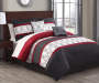 Chase Red Black and White 10-Piece King Comforter Set Lifestyle Image