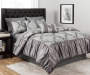 Chateau Gray Medallion 10 Piece King Comforter Set On Bed Room Environment Lifestyle Image
