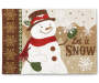 Chenille Snowman Christmas Placemat Overhead Shot Silo Image