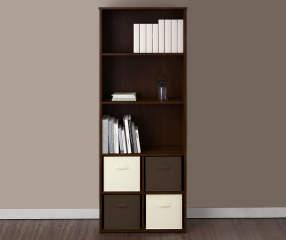 Ameriwood System Build 5 Shelf Resort Cherry Cube