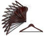 Cherry Wooden Suit Hangers 12-Pack Silo