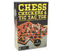 Chess Checker and Tic Tac Toe Game Set In Package Silo