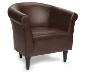 Chestnut Brown Tub Chair | Big Lots