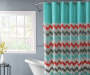 Chevron Multicolor Shower Curtain Set Bathtub and Window Lifestyle Image