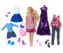 Chic Blonde Fashion Doll Set Out of Package with Accessories Silo Image