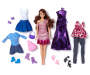 Chic Brunette Fashion Doll Set Out of Package with Accessories Silo Image