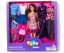 Chic Brunette Fashion Doll Set in Package Silo Image