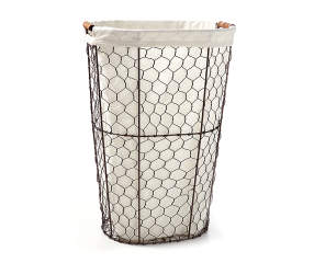 Home Essentials Chicken Wire Oval Hamper Big Lots
