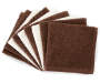 Chocolate/ Ivory Wash Cloth, 9-Pack stacked shot
