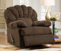Chocolate Dynasty Recliner Reclined Room View