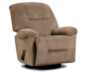 Stratolounger Chocolate Hudson Swivel Rocker Recliner