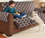 Chocolate Reversible Sofa Cover Lifestyle Image