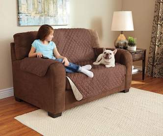 Sure Fit Brown Tile Stretch Sofa Slipcover Big Lots