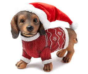 Winter Wonder Lane Christmas Dachshund With Sweater Big Lots
