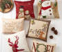 "Christmas Snowman Chenille Throw Pillow, (18"" x 18"")"